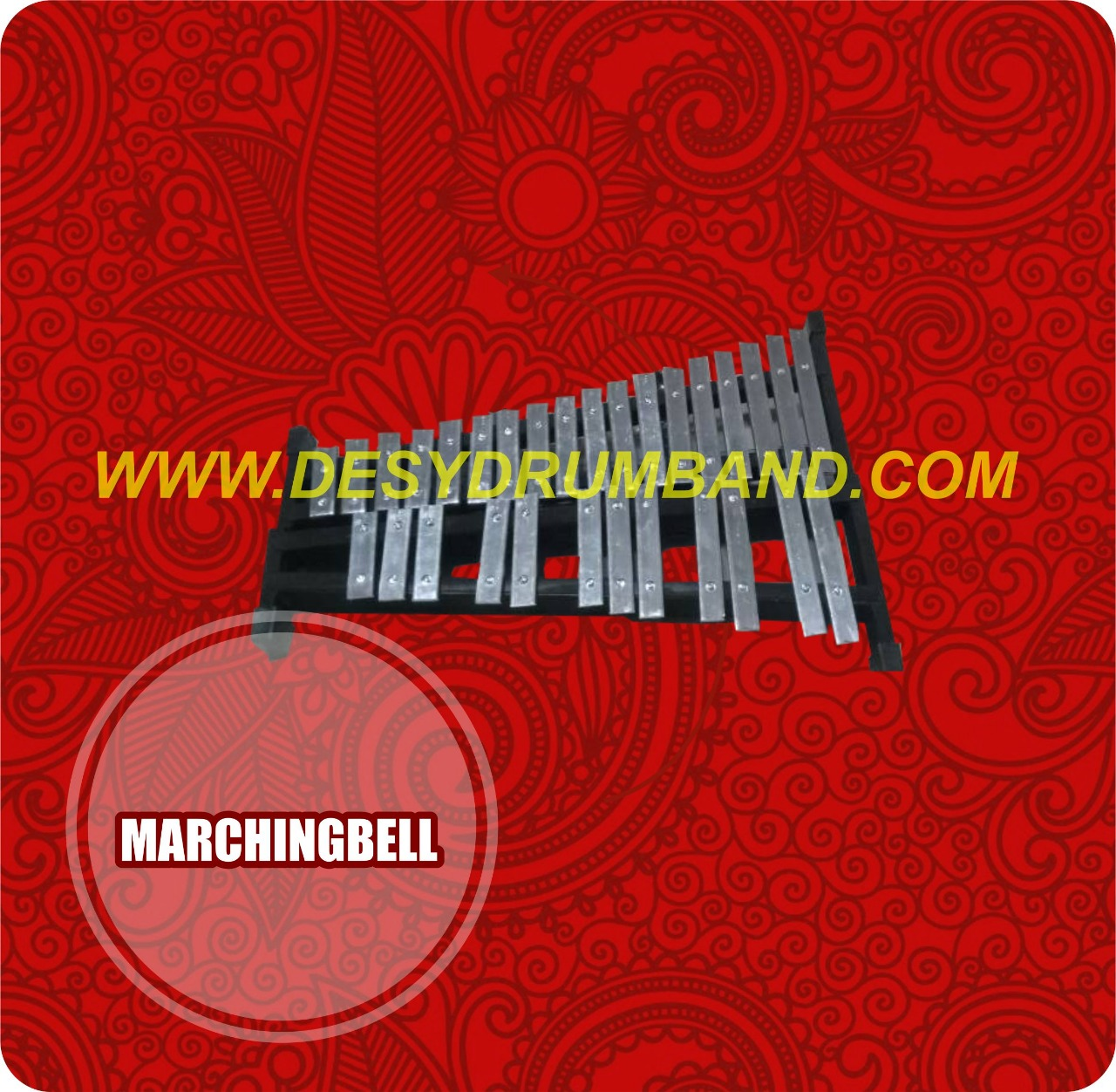 1 Set Alat Band Jual Musik Marching Tk Mc Bell Desy Drumband